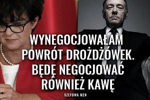 """Polskie House of Cards. Szefowa MEN: """"Wynegocjowałam powrót drożdżówek do szkół"""""""