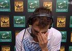 ATP w Pary�u. Wzruszony Janowicz pop�aka� si� w trakcie wywiadu [WIDEO]