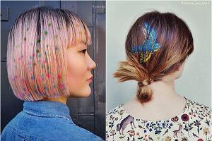 Graffiti na włosach? Tak! Ta dziewczyna tworzy niesamowite wzory używając farby i szablonów
