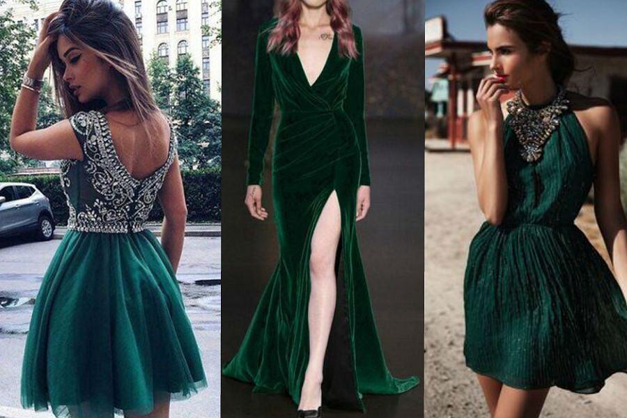 350c79b7ef66 Sukienki w kolorze butelkowej zieleni - stylizacje na specjalne okazje
