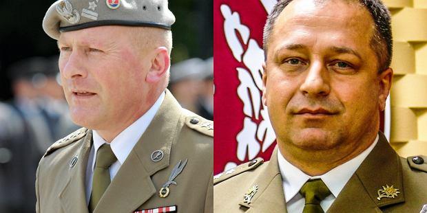 Od lewej gen. Jerzy Gut i gen. Wojciech Marchwica
