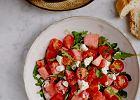 Jedzenie na czasie. Sałatka z arbuza i pomidorów