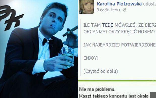 Ile za koncert bierze Piotr Kukulski, brat Natalii? Karolina Korwin Piotrowska uprzejmie donosi...