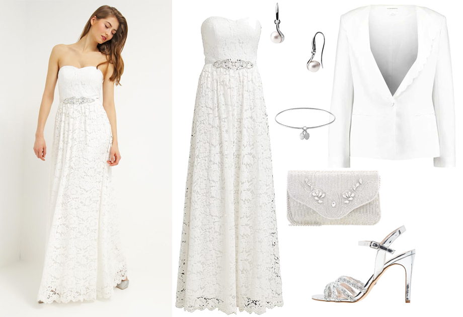 4ea0f8af36 Suknia ślubna z sieciówki - stylizacja ślubna