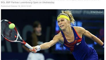 Zdjęcie Katarzyny Piter ilustruje artykuł na oficjalnej stronie WTA