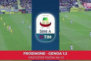 Serie A. Frosinone - Genoa 1:2. Pierwsza bramka Krzysztofa Piątka [ELEVEN SPORTS]
