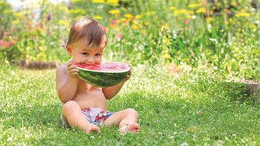 Zawierający aż 90 proc. wody i bogaty w błonnik arbuz szczególnie dobrze wpływa na pracę jelit.