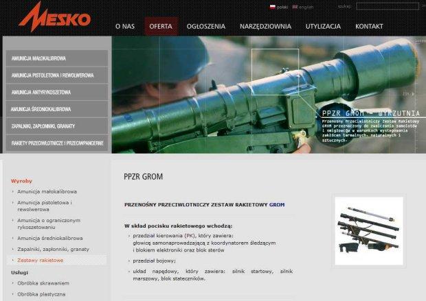 Litwa chce kupi� w Polsce rakiety przeciwlotnicze GROM