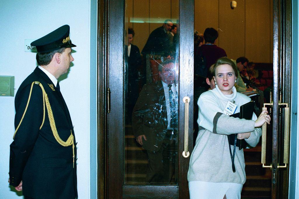 Domaros/Potocka w Sejmie, 1993 r. (fot. Sławomir Kamiński / Agencja Gazeta)