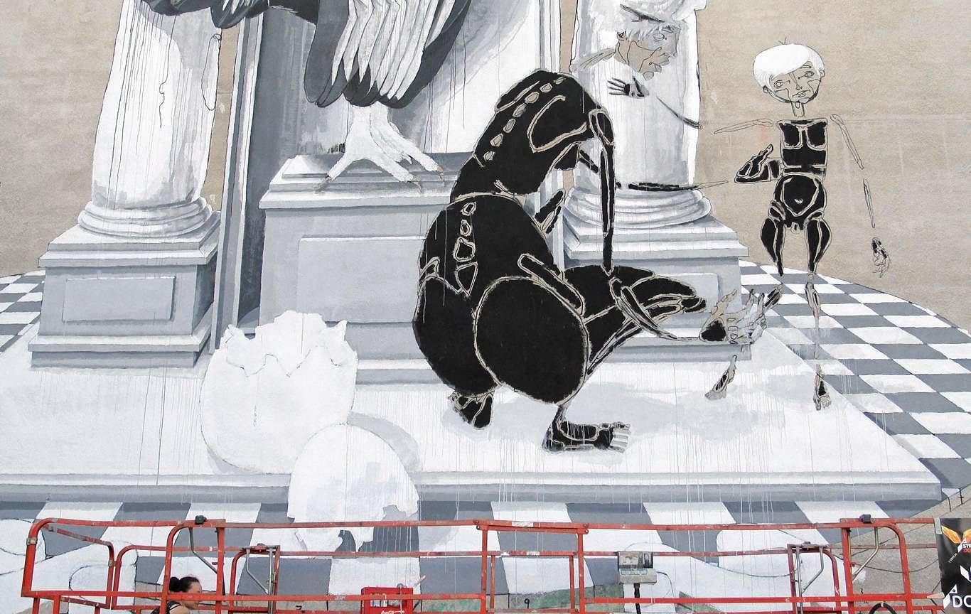 Zdj cie nr 5 w galerii nowy mural na rac awickiej na for Mural ursynow