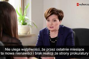 """""""Czuję się zagrożona"""" Hanna Gronkiewicz-Waltz występuje o ochronę. Rozważa pozew za Plastusie"""