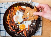 Kaszanka z jajkami - ugotuj