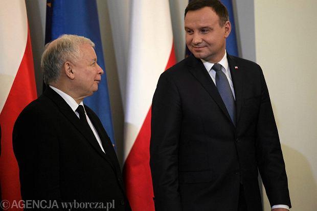 Prezydent Andrzej Duda i Jaros�aw Kaczy�ski