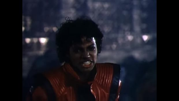 Michael Jackson w klipie do utworu Thriller