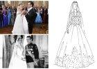 Suknie ślubne królowych i księżniczek z lat 1946-2015 roku. Czyj tren był najdłuższy, kto kupił kreację za kartki, u kogo na weselu bawił się Frank Sinatra? [ARCHIWALNE ZDJĘCIA + CIEKAWOSTKI]