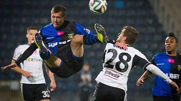 Sebastian Ziajka w meczu z Legią Warszawa