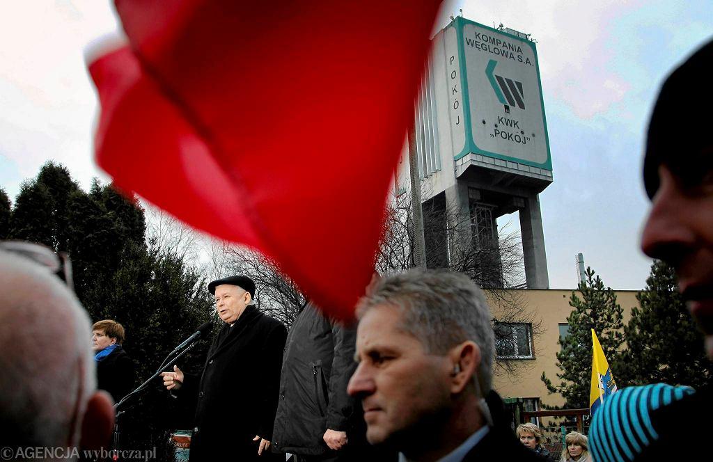 Jarosław Kaczyński odwiedził Rudę Śląską 12 stycznia