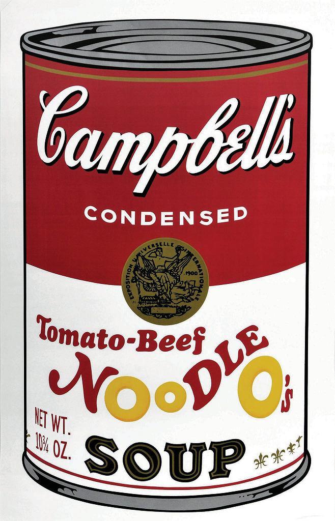 Andy Warhol, Puszka zupy, sitodruk / materiały prasowe
