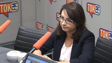 Kamila Gasiuk-Pihowicz w studiu TOK FM.