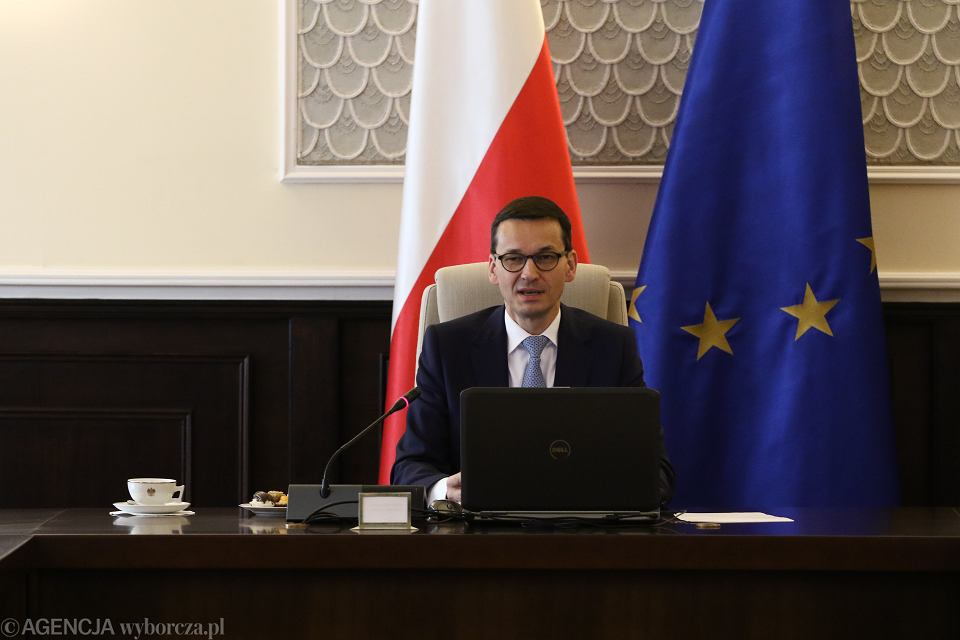 Premier rządu PiS Mateusz Morawiecki podczas posiedzenia gabinetu. Warszawa 9 stycznia 2018