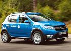 DACIA Sandero 12-, rok produkcji 2013, coupe, widok przedni prawy, samoch�d 5-drzwiowy, kolor niebieski jasny