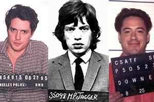 Robert Downey, Mick Jagger, Hugh Grant