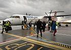 Pierwsi pasa�erowie polecieli Eurolotem, m.in. Zaleski [GALERIA]