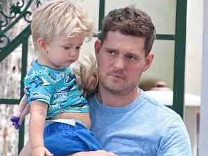 Michael Buble z synem w Miami