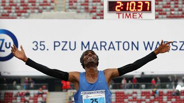 Yared Shegumo, urodzony w Etiopii zawodnik AZS AWF Warszawa, został zwycięzcą 35. PZU Maratonu Warszawskiego z metą na płycie Stadionu Narodowego. Trasę długości 42 km 195 km pokonał w czasie 2:10.34.