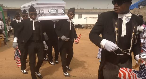 Pogrzeb w Ghanie
