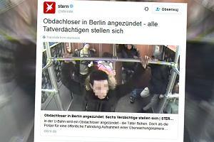 Młodzi mężczyźni podpalili bezdomnego w Berlinie. Media: Ofiarą był Polak