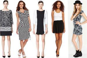 Czarno-białe sukienki dla minimalistek - 80 propozycji