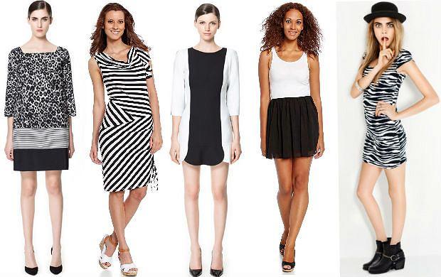 Czarno-bia�e sukienki dla minimalistek - 80 propozycji