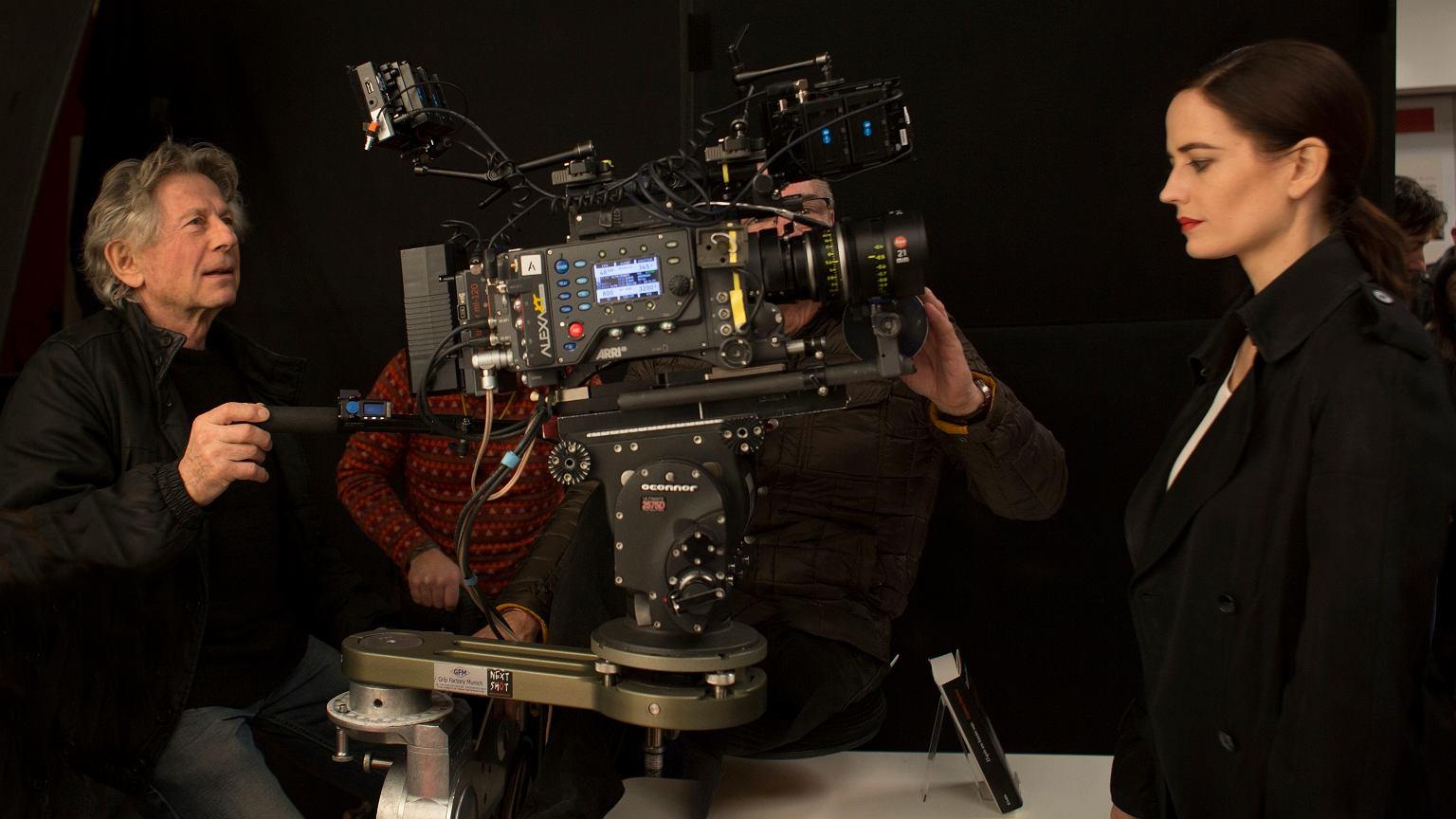 Roman Polański i Eva Green na planie filmu 'Prawdziwa historia'