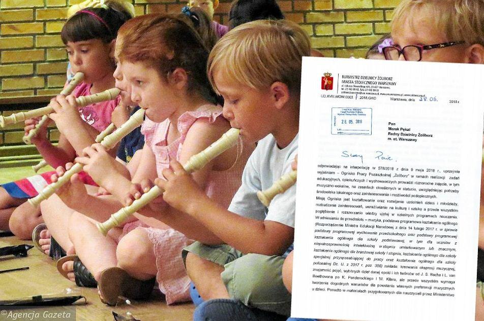 Dzieci uczyły się grać na fletach 'Odę do radości'. Pojawiły się skargi