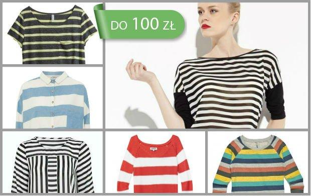 Bluzki w paski do 100 z� - ponad 100 propozycji na wiosn�