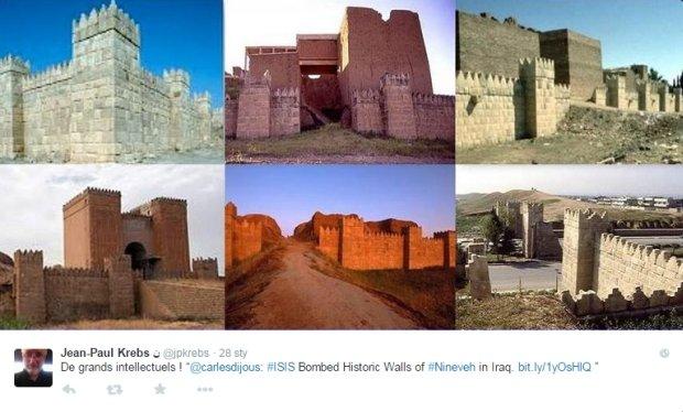 Mury starożytnej Niniwy zostały zniszczone przez terrorystów