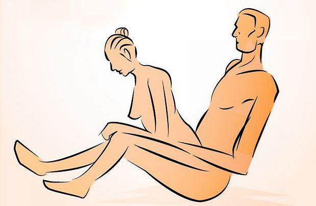 Pozycja seksualna na siedząco, tyłem