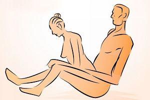 Pozycja seksualna: na siedząco, tyłem - idealna do dużej wanny