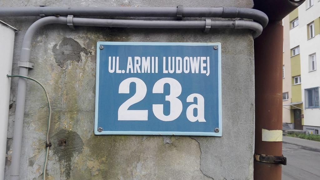 Ulica dawnej Armii Ludowej (obecnie Jana Pawła II)
