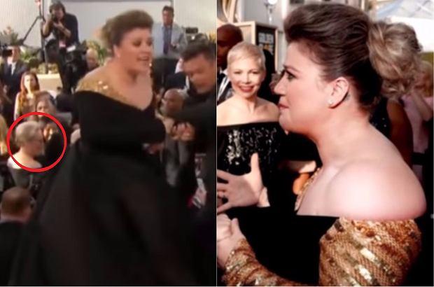 Kelly Clarkson na 75. gali rozdania Złotych Globów po raz pierwszy spotkała Meryl Streep. Za jej spontaniczną reakcję uwielbiamy ją jeszcze bardziej.