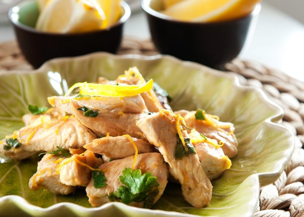 Menu dnia  z cytrynowym kurczakiem