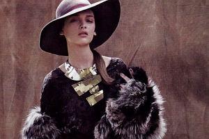 Daga Ziober - edytorial w stylu glamour w magazynie Amica