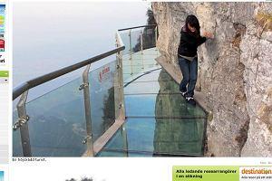 Chiny. Szklany most 1430 metrów nad ziemią!