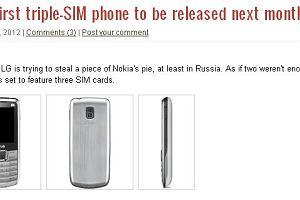 LG chce wprowadzi� na rynek telefon z obs�ug� 3 kart SIM