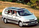 RENAULT Espace 97-00, rok produkcji 1998, mpv, widok przedni prawy, samoch�d 5-drzwiowy, kolor silver grey