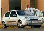 RENAULT Clio II  98-01, rok produkcji 1999, coupe, widok przedni prawy, samoch�d 3-drzwiowy, kolor silver grey