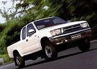 TOYOTA HiLux 89-01, rok produkcji 1998,  widok przedni prawy, samoch�d 2-drzwiowy, kolor bia�y