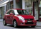 SUZUKI Swift 05-11, rok produkcji 2005, coupe, widok przedni prawy, samoch�d 5-drzwiowy, kolor czerwony jasny