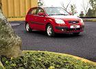 KIA Rio Hatchback 05-09, rok produkcji 2005, coupe, widok przedni prawy, samoch�d 5-drzwiowy, kolor czerwony jasny